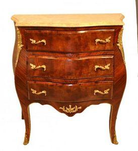 Demeure et Jardin - petite commode trois tiroirs avec plateau en marb - Chest Of Drawers