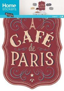 Nouvelles Images - sticker mural panneau café de paris - Sticker