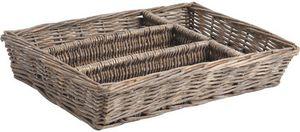 Aubry-Gaspard - ramasse couverts en osier - Cutlery Tray