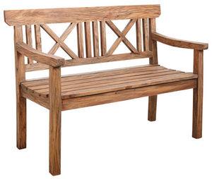 Aubry-Gaspard - banc de jardin en bois naturel antique - Garden Bench