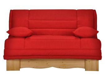 WHITE LABEL - banquette-lit bz matelas hr 140 cm - speed chamoni - Reclining Sofa