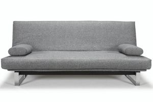 WHITE LABEL - innovation living clic clac minimum gris granite  - Futon
