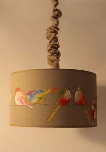 L'ATELIER DES ABAT-JOUR - oiseau - Hanging Lamp