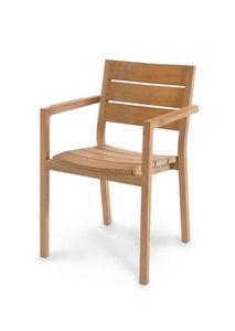 Stackable garden armchair