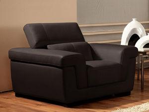 WHITE LABEL - fauteuil cuir evasion - Armchair