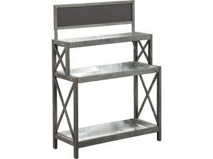 AUBRY GASPARD - table à rempoter en bois et zinc - Potting Table