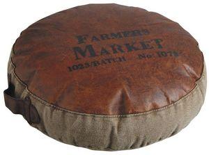 Aubry-Gaspard - grand coussin farmers market 50cm - Round Cushion