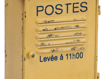 Antic Line Creations - boite à clefs postes jaune antique - Key Cupboard