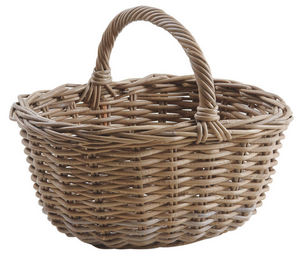 Aubry-Gaspard - panier en poelet gris - Basket