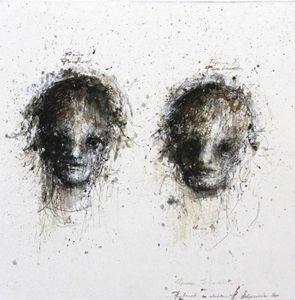 HANNA SIDOROWICZ - deux visages - Portrait