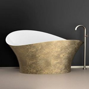 GLAss DESIGN - flower style - Freestanding Bathtub
