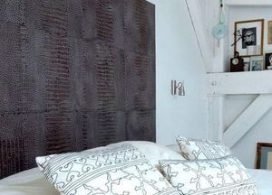 CUIR AU CARRE -  - Wall Covering