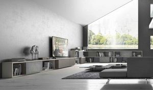 Presotto - crossart - Modular Bookcase