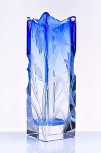 MOSER - irises - Decorative Vase