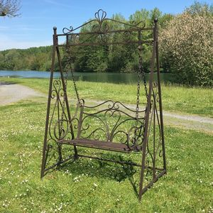 CHEMIN DE CAMPAGNE - balançoire balancelle 2 places en fer de jardin - Swinging Chair