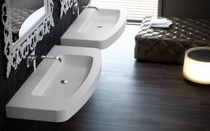 FIORA - fontana - Wall Mounted Washbasin