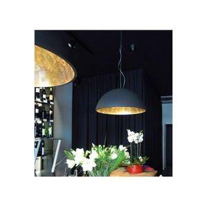 Gesso - suspension coupole noir/or - Hanging Lamp