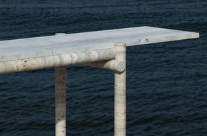 CLEMENT BRAZILLE - -ocean travertine - Console Table
