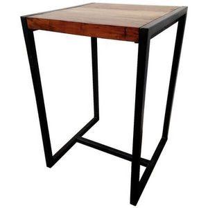 Mathi Design - mange debout bois et acier factory - Bar Table