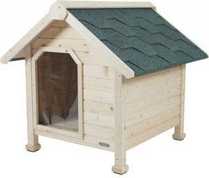 jardindeco - niche en bois chalet large - Kennel