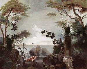Ananbô - flamant rose- - Panoramic Wallpaper