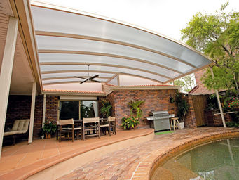 PALRAM -  - Attached Pergola