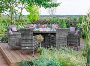 Nova Garden Furniture - flat weave collection - Round Garden Table