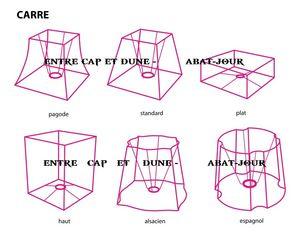 ENTRE CAP ET DUNE -  - Square Lampshade