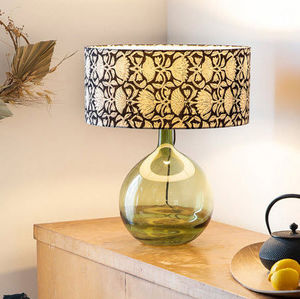 FABULEUSE FACTORY - tissu lotus black - Cone Shaped Lampshade