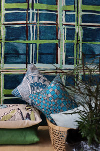 LALIE DESIGN - madras kiwi - Fabric By The Metre