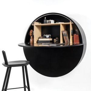 EMKO - pill - bureau mural noir 30.5 x ø 110 cm - Suspended Office