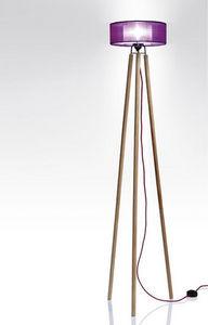 Anne-Marie Zahar - nonne violet petit format - Trivet Floor Lamp