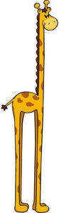 DECOLOOPIO - grande girafe - Children's Decorative Sticker