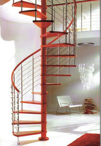 SK-SYSTEME - red line - Spiral Staircase