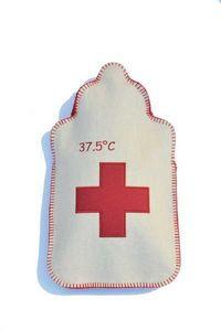 LES BOUILLOTTES DE BEA - 37.5°c écru/rouge - Hot Water Bottle
