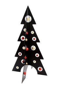 ARTS ET PLAISIRS - sapin de noël design 'chic - h : 140 cm - noir - Artificial Christmas Tree