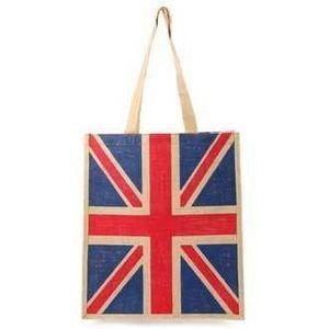 Un jardin de cadeaux - sac en jute union jack - Handbag