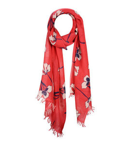 Mimo International - crocus red woven scarf - Scarf