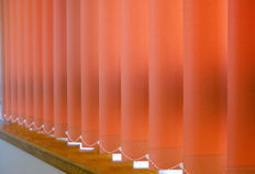 Soltech Systems - vertical fabrics - Blind With Vertical Stripes
