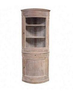 DECO PRIVE - meuble d angle double corps bois ceruse - Corner Cupboard