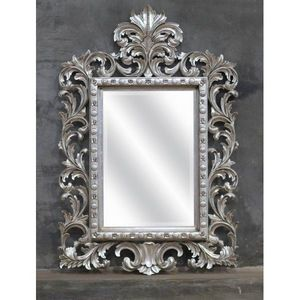 DECO PRIVE - miroir en bois argente modele beauty deco prive - Mirror