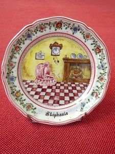 Ceramique Regnier -  - Christening Plate