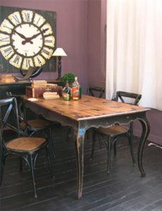 BLEU PROVENCE - vintage black - Rectangular Dining Table