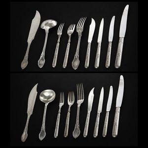 Expertissim - partie de ménagère en argent par cardeilhac - Cutlery Set