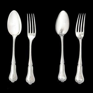 Expertissim - cardeilhac. partie de ménagère en argent - Cutlery Set
