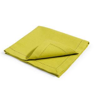 Maisons du monde - serviette unie verte - Table Napkin