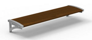 Maglin Site Furniture - mlb720bcl - Town Bench