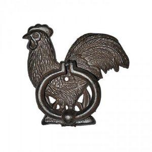 Demeure et Jardin - heurtoir coq en fonte - Doorknocker