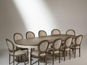 Robin des bois - table de salle à manger aude, extensible, 4 à 16 c - Oval Dining Table