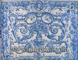Almaviva - azulejo xviie siècle - Ceramic Tile